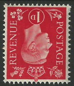 SG463Wi 1d Scarlet Inverted Watermark Unmounted Mint (George VI 1937 Definitive Stamps)